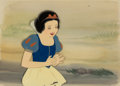 Animation Art:Production Cel, Snow White and the Seven Dwarfs Production Cel with Painted Background (Walt Disney, 1937)....