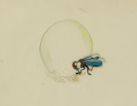Fly and Soap Bubble Production Cel Setup (Studio and year unknown)