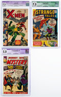 Silver Age (1956-1969):Superhero, Marvel Silver Age Comics CGC-Graded Group of 3 (Marvel, 1963-67).... (Total: 3 Comic Books)