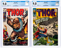 Thor #132 and 159 CGC-Graded Group (Marvel, 1966-68) CGC VF/NM 9.0.... (Total: 2 Comic Books)