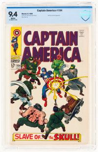Captain America #104 (Marvel, 1968) CBCS NM 9.4 White pages