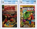 Silver Age (1956-1969):Superhero, Daredevil #13 and Defenders #10 CGC-Graded Group (Marvel, 1966-73) CGC VF- 7.5.... (Total: 2 )