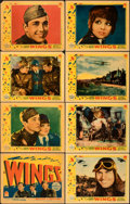 """Movie Posters:Academy Award Winners, Wings (Paramount, 1927). Fine/Very Fine. Linen Finish Lobby Card Set of 8 (11"""" X 14"""").. ... (Total: 8 Items)"""