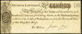 "Colonial Era Lottery Ticket for the British ""Museum-Lottery"" circa 1773 Extremely Fine"