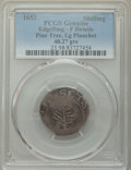 1652 SHILNG Pine Tree Shilling, Large Planchet -- Edge Damaged, Damage -- PCGS Genuine. Fine Details. ...(PCGS# 23)