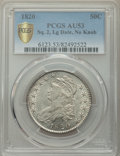 Bust Half Dollars, 1820 50C Square 2, Large Date, No Knob, AU53 PCGS. PCGS Population: (28/55 and 0/2+). NGC Census: (0/0 and 0/0+). CDN: $1,0...