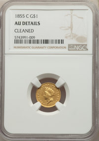 1855-C G$1 -- Cleaned -- NGC Details. AU. Mintage 9,803. ...(PCGS# 7533)