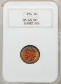 1894 1C MS65 Red and Brown NGC. NGC Census: (67/4). PCGS Population: (47/5). CDN: $500 Whsle. Bid for NGC/PCGS MS65. Min...