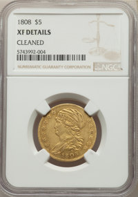 1808 $5 -- Cleaned -- NGC Details. XF. Mintage 55,578. ...(PCGS# 8102)