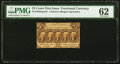 Fractional Currency:First Issue, Fr. 1282 25¢ First Issue Narrow Margin Face PMG Uncirculated 62.. ...