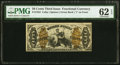 Fractional Currency:Third Issue, Fr. 1364 50¢ Third Issue Justice PMG Uncirculated 62 EPQ.. ...
