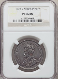 South Africa: George V Proof Penny 1923 PR66 Brown NGC