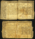 Maryland January 1, 1767 $2/3 Very Good; Maryland March 1, 1770 $2/3 Very Good. ... (Total: 2 notes)
