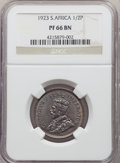 South Africa: George V Proof 1/2 Penny 1923 PR66 Brown NGC