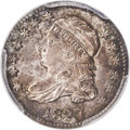 Bust Dimes, 1827 10C Pointed Top 1, JR-3, R.1, MS64 PCGS. CAC....