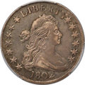 Early Half Dollars, 1802 50C O-101, T-1, R.3, AU53 PCGS....