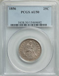 Seated Quarters: , 1856 25C AU50 PCGS. PCGS Population: (28/230). NGC Census: (14/186). AU50. Mintage 7,264,000. ...