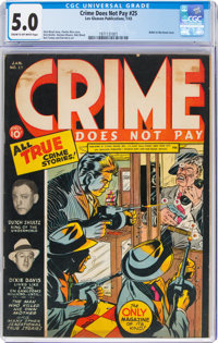 Crime Does Not Pay #25 (Lev Gleason, 1943) CGC VG/FN 5.0 Cream to off-white pages