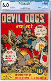 Devil Dogs #1 (Street & Smith, 1942) CGC FN 6.0 Cream to off-white pages