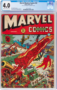 Marvel Mystery Comics #39 (Timely, 1943) CGC VG 4.0 Cream to off-white pages