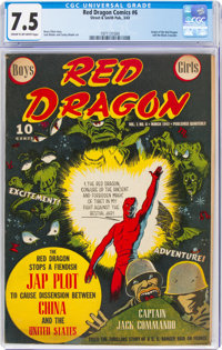 Red Dragon Comics #6 (Street & Smith, 1943) CGC VF- 7.5 Cream to off-white pages