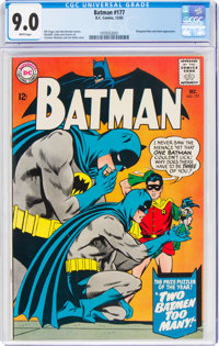 Batman #177 (DC, 1965) CGC VF/NM 9.0 White pages