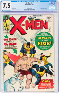 X-Men #3 (Marvel, 1964) CGC VF- 7.5 Off-white to white pages