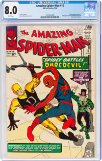 The Amazing Spider-Man #16 (Marvel, 1964) CGC VF 8.0 White pages