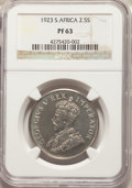 South Africa: George V Proof 2-1/2 Shillings 1923 PR63 NGC