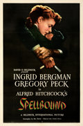 """Movie Posters:Hitchcock, Spellbound (United Artists, 1945). Very Fine on Linen. One Sheet (27"""" X 41"""").. ..."""