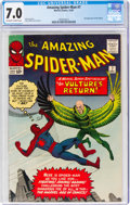 Silver Age (1956-1969):Superhero, The Amazing Spider-Man #7 (Marvel, 1963) CGC FN/VF 7.0 Off-white to white pages....