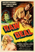 "Movie Posters:Film Noir, Raw Deal (Eagle Lion, 1948). Very Fine on Linen. One Sheet (27.5"" X 41"").. ..."