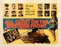 "All Quiet on the Western Front (Universal, 1930). Fine+ on Paper. Half Sheet (22"" X 28"") Style B"