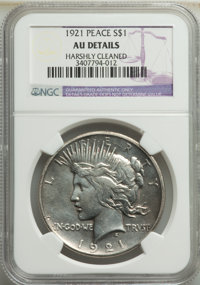 1921 $1 -- Harshly Cleaned -- NGC Details. AU. Mintage 1,006,473. ...(PCGS# 7356)