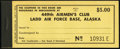 449th Airmen's Club Ladd Air Force Base, Alaska $5 Complete Chit Booklet