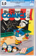 Golden Age (1938-1955):Cartoon Character, Walt Disney's Comics and Stories #30 (Dell, 1943) CGC VG/FN 5.0 White pages....