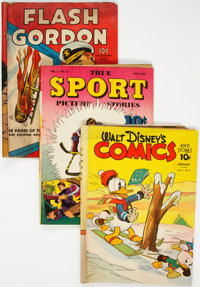 Golden Age Comics Group of 5 (Various Publishers, 1940s) Condition: Average GD+.... (Total: 5 Comic Books)