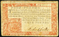 Pennsylvania April 10, 1777 Red and Black £4 Very Fine