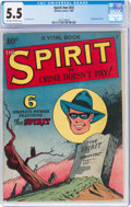 Golden Age (1938-1955):Crime, The Spirit #nn (#2) (Quality, 1945) CGC FN- 5.5 Off-white to white pages....