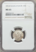 El Salvador: Republic 10 Centavos 1914-(p) MS65 NGC