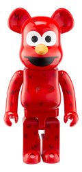 Collectible, BE@RBRICK X Sesame Street. Elmo 1000%, 2016. Painted cast resin. 28 x 14 x 9 inches (71.1 x 35.6 x 22.9 cm). No. 2. Stam...