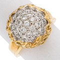 Estate Jewelry:Rings, Diamond, Gold Ring The ring features full-cut...
