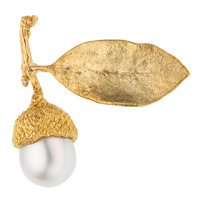 South Sea Cultured Pearl, Gold Brooch