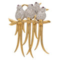 Estate Jewelry:Brooches - Pins, Diamond, Ruby, Gold Brooch . ...