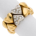 Estate Jewelry:Rings, Diamond, Gold Ring The heart ring features ful...
