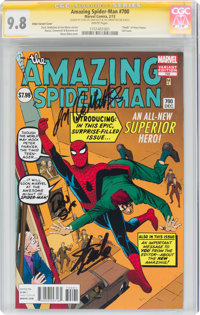 The Amazing Spider-Man #700 Ditko Variant Cover - Signature Series: Stan Lee (Marvel, 2013) CGC NM/MT 9.8 White pages...