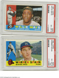 Baseball Collectibles:Others, 1960 Topps PSA-Graded Star Cards (2)....