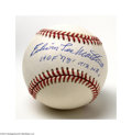 Autographs:Baseballs, Eddie Mathews Single Signed Baseball....