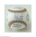 Autographs:Baseballs, Nolan Ryan & Seven No-Hit Catchers Signed Baseball....