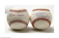 Autographs:Baseballs, Warren Spahn and Juan Marichal Single Signed Baseballs.... (2items)